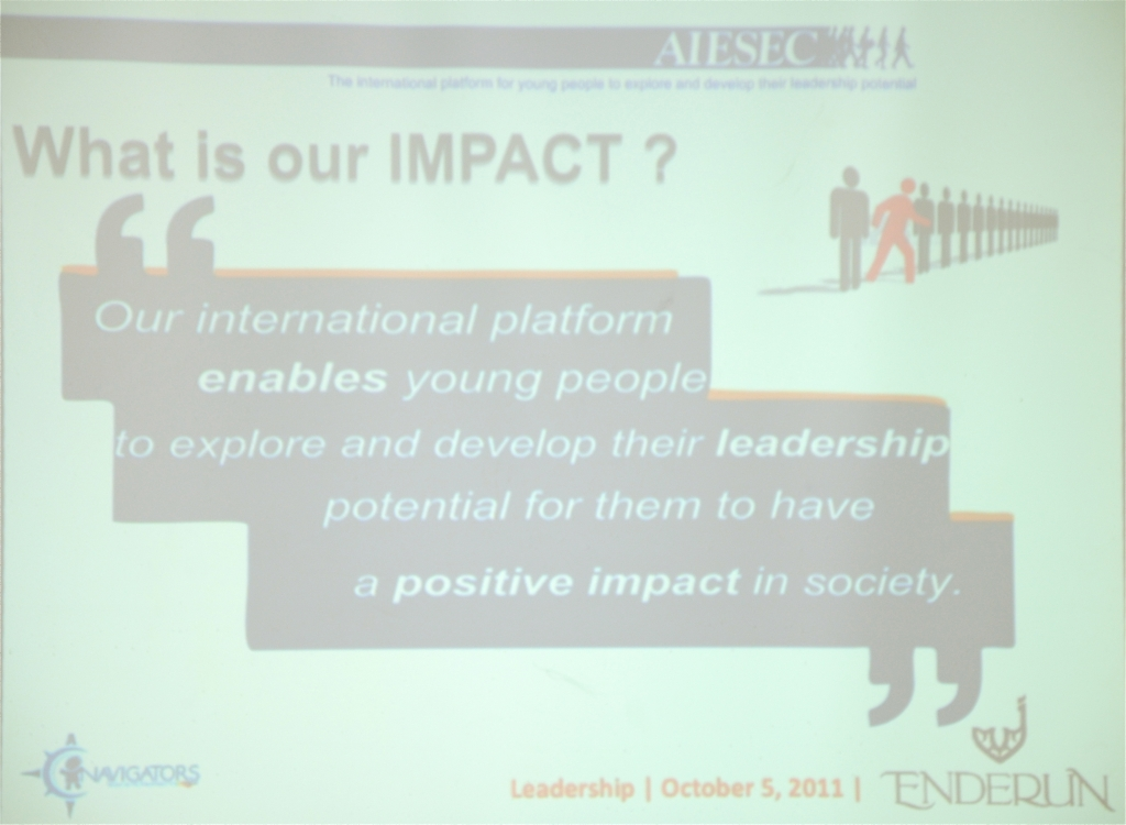 AIESEC Leadership Seminar Oct 5, 2011 - 07