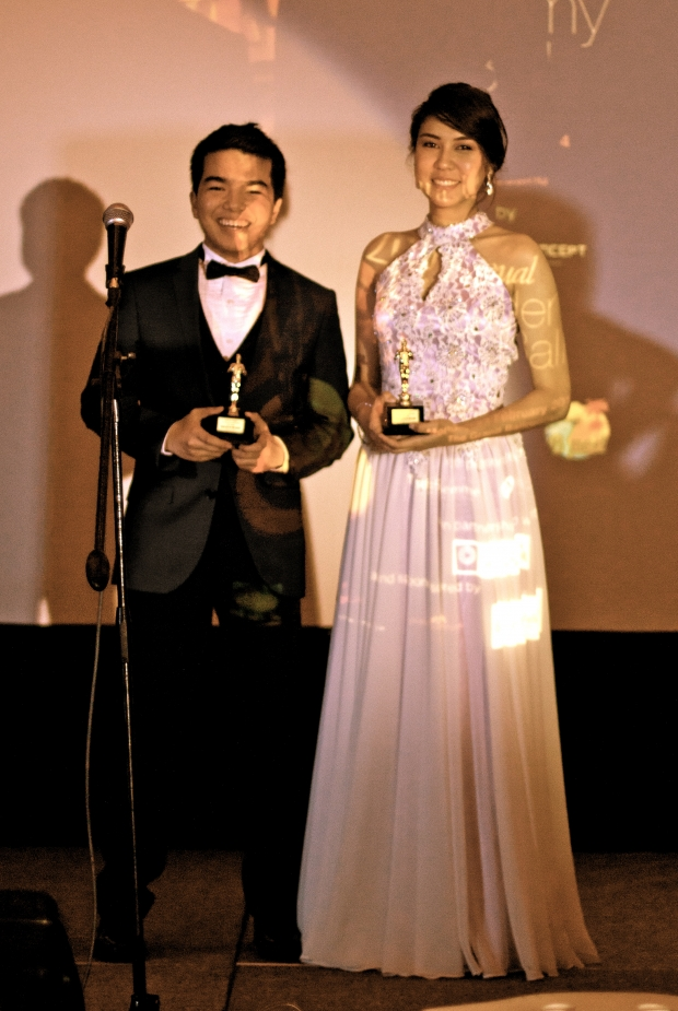 "The Awardees: ""Brad Pitt Award"" - Ash Eduarte ""Angelina Jolie Award"" - Mady Villanueva"