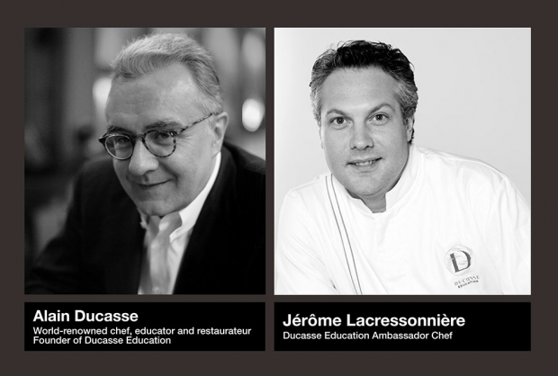 Alain Ducasse and Jerome Lacressoniere
