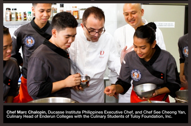 Chef Marc Chalopin and Chef See Cheong Yan