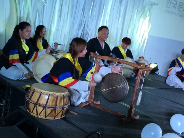 Performers from the Korean Cultural Center in Manila