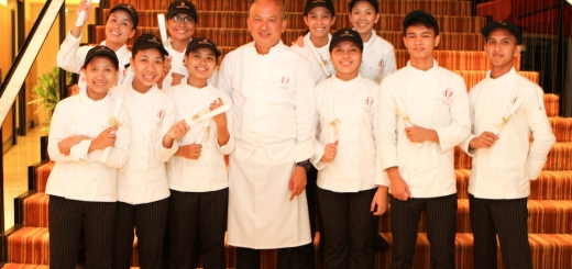 The second batch of Youth with a Future scholars with Enderun Colleges' Culinary Head Chef Cheong Yan See