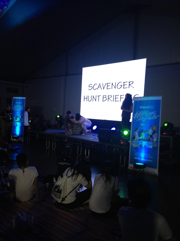 Scavenger hunt briefing presented by Carina Gonzales. (Photo by Mehetabel Jamina Magpantay)