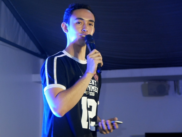 Then Student Government Vice President, Joey Tuason opens CampUs.
