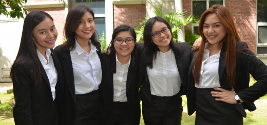 The Executive Team of Enderun CARE from L-R: Aylah Macasindil (Treasurer), Larissa Baloy (Vice President), Patricia Valencia (President), Julia Tabo (Media Head), Pitchez Walder (Secretary)