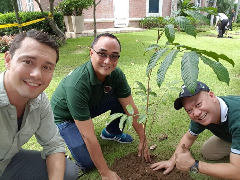 Enderun's Sustainability Department, from left to right: Bryan McClelland, Mark Jose, Macky Maceda