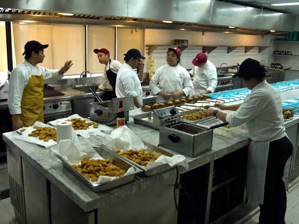 Behind the scenes with the members of Culinaire (Photo by Mark Jose)