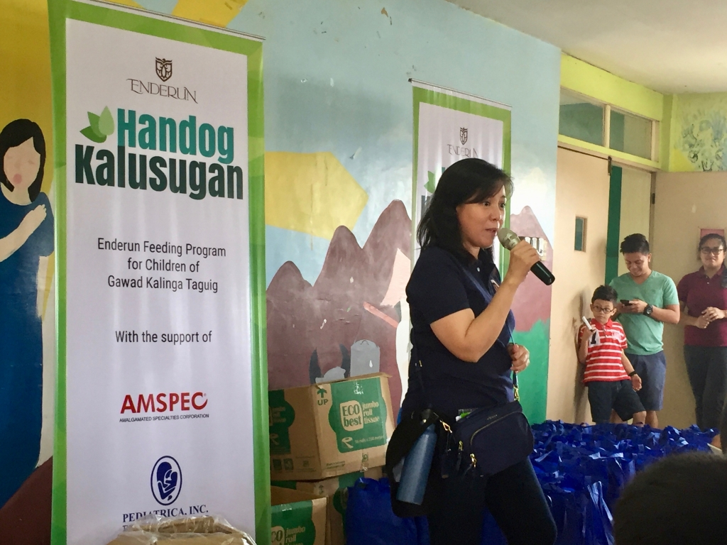 Ms. Tricia Tensuan giving the final remarks.