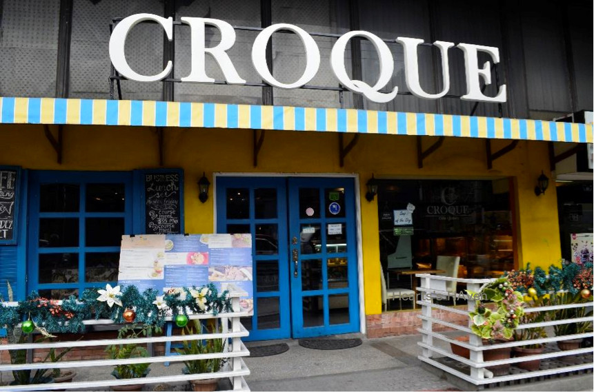 Croque Café and Bakery, on Arnaiz Street, old Pasay Road, near the corner of Paseo de Roxas, Makati