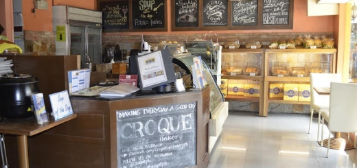 A variety of breads and pastries await you at Croque's Bakery, a bakeshop where you can eat!