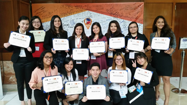 The Enderun students participating in the Asia Pacific Youth Exchange.