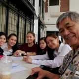 Members of the Journalism Club with their mentor and INK Editor, Sir Arnaldo.