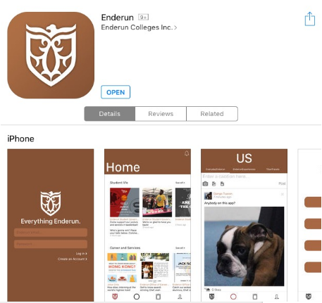 Enderun App Interface