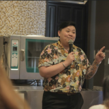 Chef Frances Tariga speaks to Enderun students