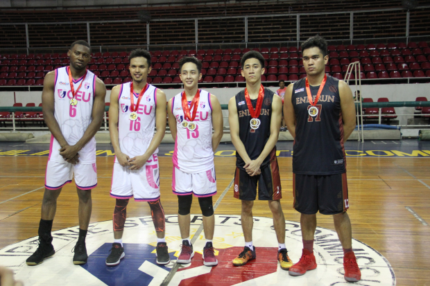 Vidal was recently recognized as one of the Mythical Five by MNCAA (second from right)