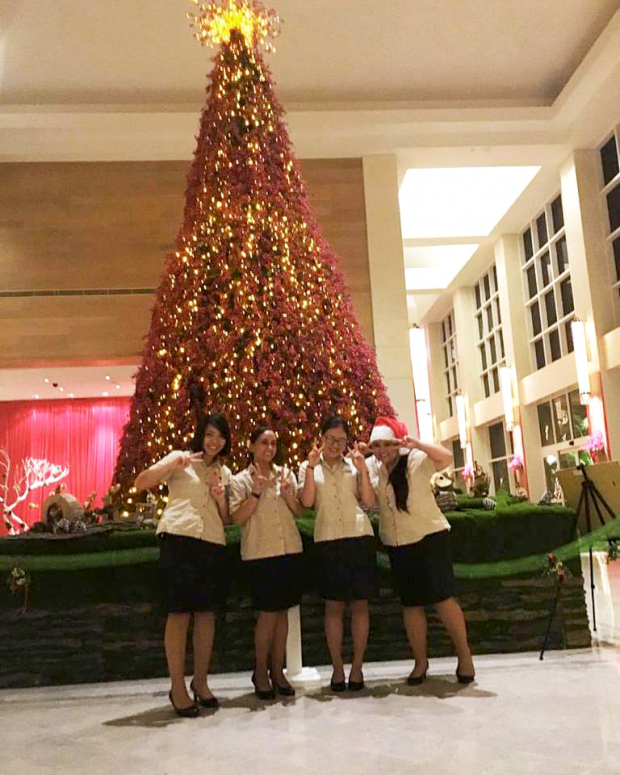 Interns over the Christmas holidays at the Hyatt Regency in Guam
