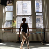 Ameena Athab dancing ballet at Steps Studio, Broadway New York