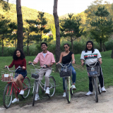 Abegail Umali, Karlos Rodejo, Angela Sanduco and Seth Ravanzo having the time of their lives in South Korea
