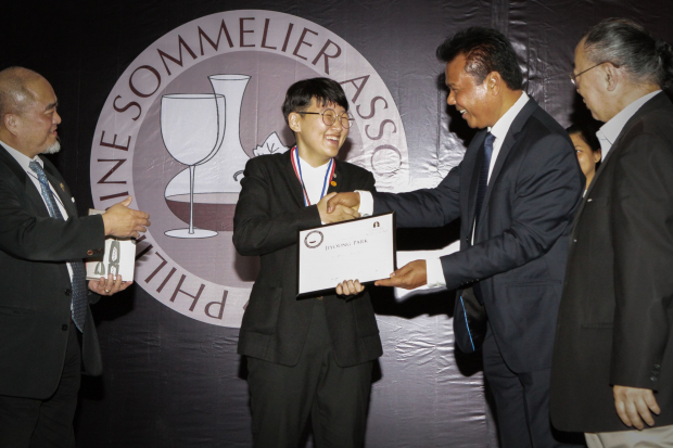 Enderun Colleges student Jiyoung Park tops the Junior Category of the 3rd Philippine Sommelier Competition.