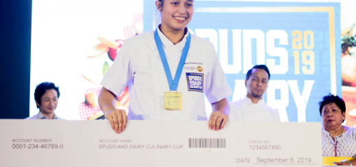 Enderun Colleges Culinary Arts student Ria Garcia was champion during the Spuds and Dairy Culinary Cup 2019 for the Best U.S. Potato Dish Category
