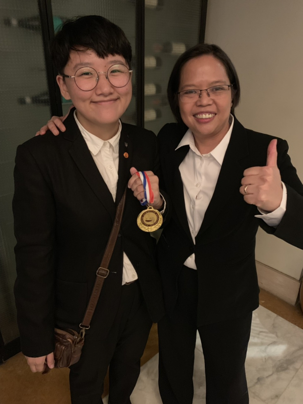 Enderun Colleges student Jiyoung Park and her mentor, Enderun Colleges Associate Dean for International Hospitality Management Bel Castro