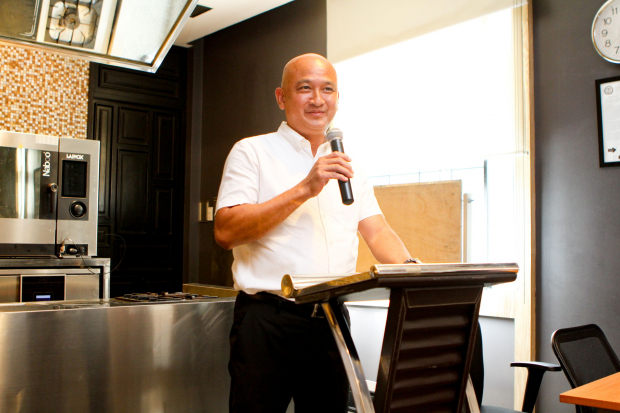 Enderun Colleges Culinary Head See Cheong Yan shared his opening remarks about what is expected of each culinary graduate after the program.