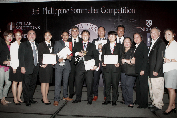 The winners of the 3rd Philippine Sommelier Competition together with the panel of judges