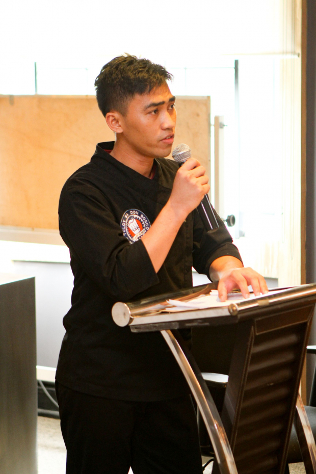 Tuloy Foundation culinary scholar Jason Andrada conveyed how grateful he is for the opportunity to train and learn from some of the best chefs during his valedictory speech.