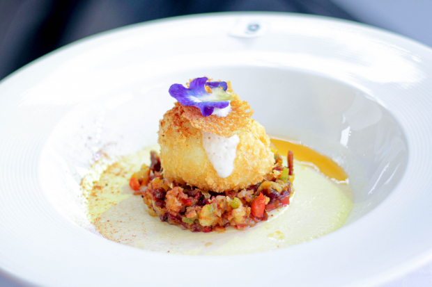 Winning U.S. Potato Dish by Enderun Colleges student Ria Garcia: Potato Royale, Hash with Scotch Egg