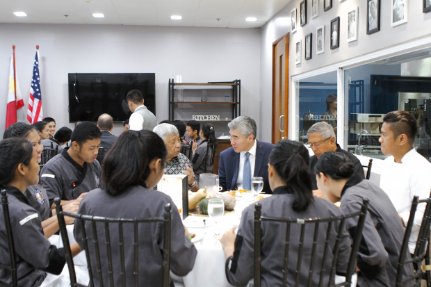 Thanksgiving luncheon with U.S. Ambassador to the Philippines Sung Kim and scholars from Tuloy Foundation
